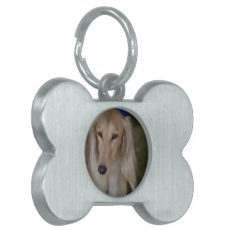 Blonde Saluki Dog Pet Name Tag