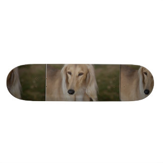 Blonde Saluki Dog Skateboard Deck