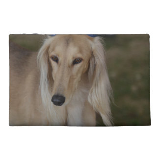 Blonde Saluki Dog Travel Accessory Bags