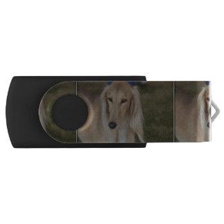 Blonde Saluki Dog USB Flash Drive