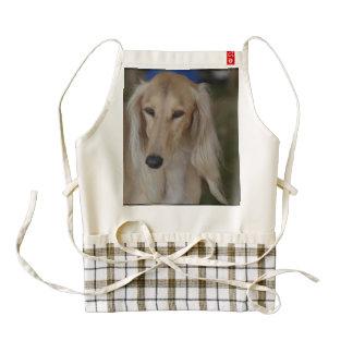 Blonde Saluki Dog Zazzle HEART Apron
