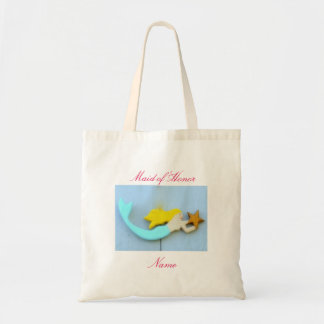 Blonde sea nymph maid of honor budget tote bag