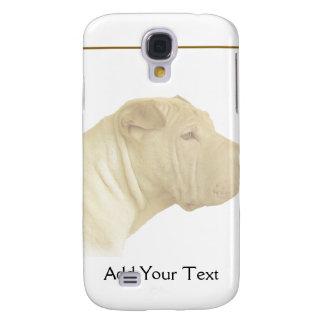 Blonde Shar Pei Portrait on White Samsung Galaxy S4 Cover