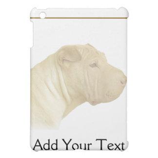 Blonde Shar Pei Portrait on White iPad Mini Case