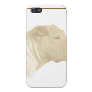 Blonde Shar Pei Portrait on White Cases For iPhone 5