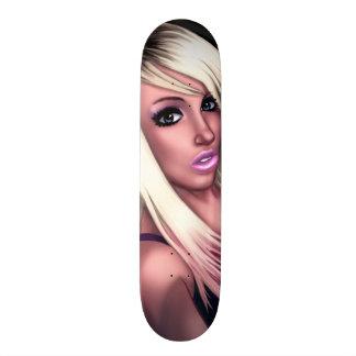 Blonde Skater Girl Skateboard