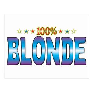 Blonde Star Tag v2 Postcard