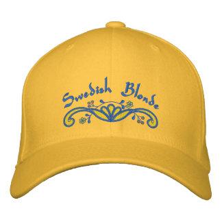 Blonde sueco gorra de beisbol bordada