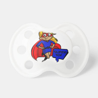 blonde super mom pacifier