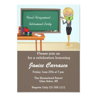 Blonde Teacher Retirement Party Invitations