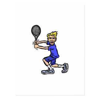 Blonde Tennis Boy Postcard