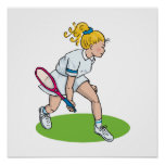 Blonde Tennis Girl Poster