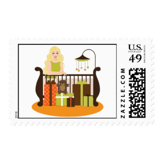 Blonde Unisex Baby Shower Postage