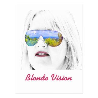 Blonde Vision Postcard