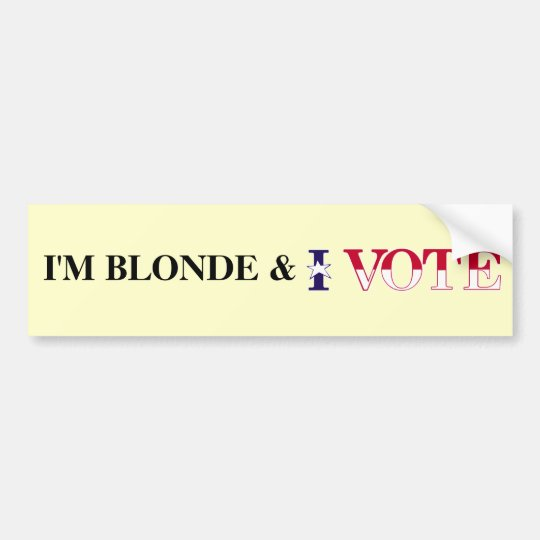 Blonde Vote Bumper Sticker