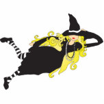 blonde witch acrylic cut out