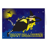 blonde witch greeting cards