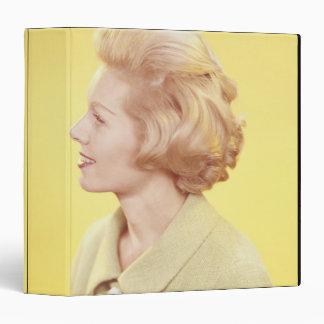 Blonde Woman 2 3 Ring Binder
