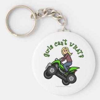 Blonde Woman ATV | Four Wheeler Driver Keychains