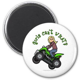 Blonde Woman ATV | Four Wheeler Driver Magnet
