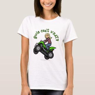 Blonde Woman ATV | Four Wheeler Driver T-Shirt