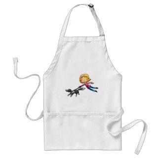 Blonde woman Dog walking Adult Apron