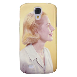 Blonde Woman Galaxy S4 Cases