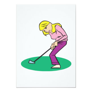 Blonde Woman Golfer Card