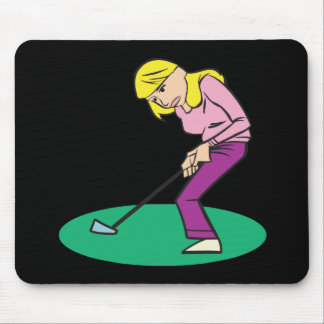 Blonde Woman Golfer Mouse Pad