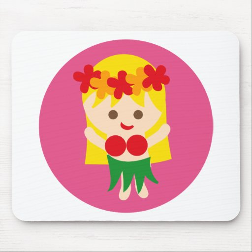 BlondeHulaGirl5 Mouse Pad