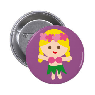 BlondeHulaGirl6 Pinback Buttons