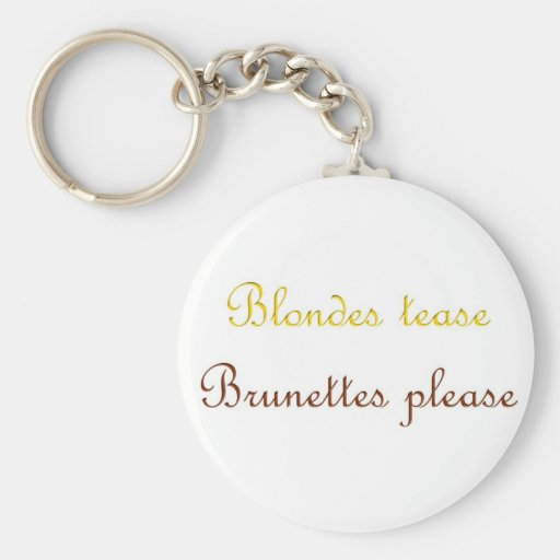 Blondes&Brunettes Llaveros Personalizados