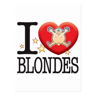Blondes Love Man Postcard