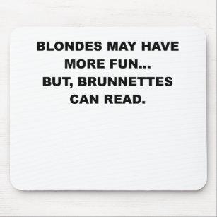 funny blonde jokes mouse pads zazzle