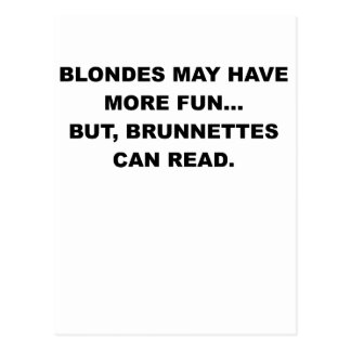 BLONDES MAY HAVE MORE FUN.png Postcard
