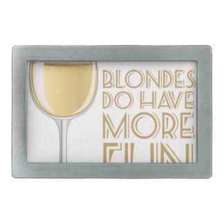 Blondes More Fun Rectangular Belt Buckle