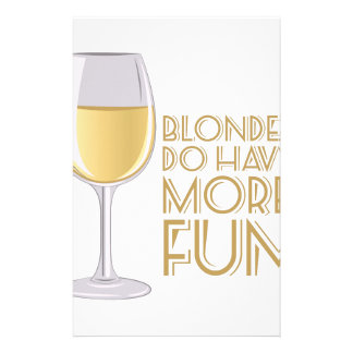 Blondes More Fun Stationery