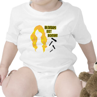 Blondes not Bombs Baby Bodysuit
