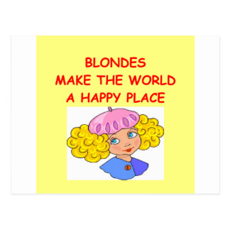 blondes postales