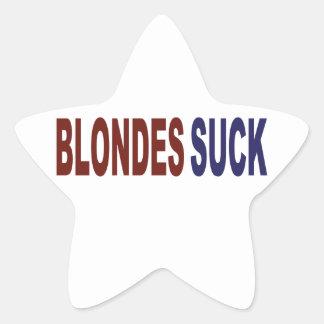 Blondes Suck Star Sticker
