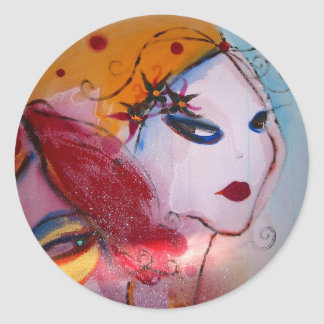 """""""Blondie & I"""" Classic Round Sticker"""