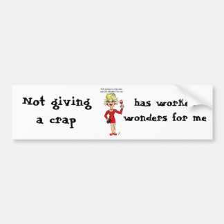 """BLONDIE: """"Not giving a crap has worked wonders for Car Bumper Sticker"""