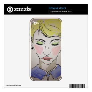 Blondie iPhone 4S Decals