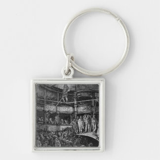 Blondin at Shoreditch Silver-Colored Square Keychain