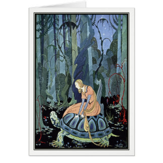 Blondine and the Turtle by Virginia Sterrett Card