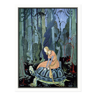 Blondine and the Turtle by Virginia Sterrett Postcard