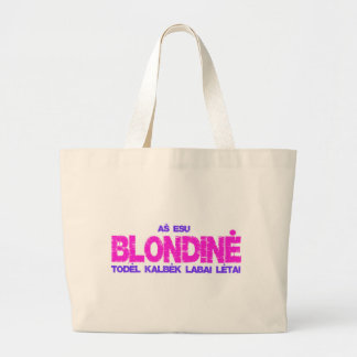 Blondine t-shirt tote bags
