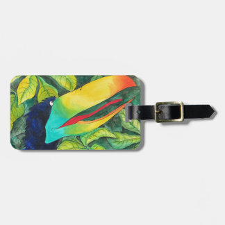 """Bloo Bird"" Art by Mike Quinn Luggage Tag"