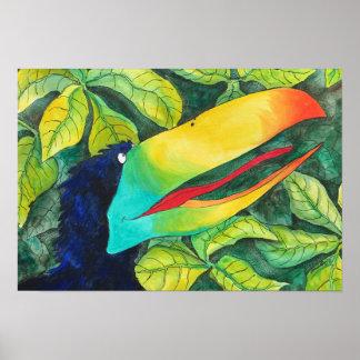 """""""Bloo Bird"""" Art by Mike Quinn Poster"""