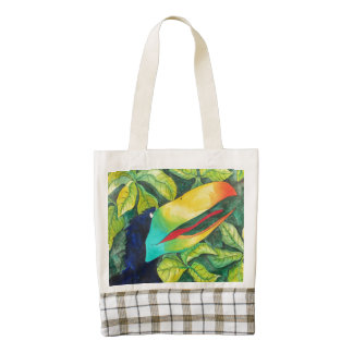 """Bloo Bird"" Art by Mike Quinn Zazzle HEART Tote Bag"